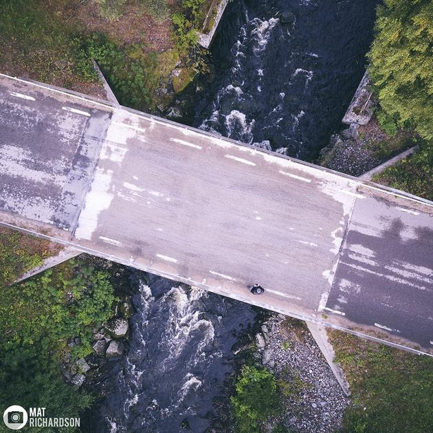 aerial photography swidish lapland