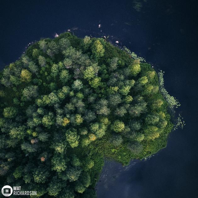 aerial photography swedish lapland